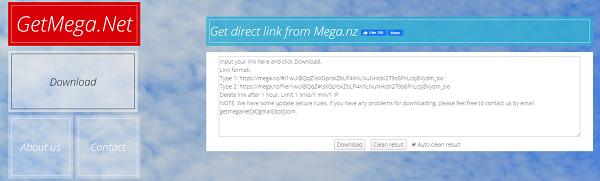 cách get link mega