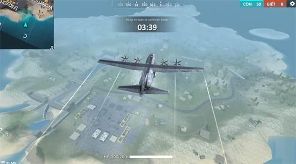 Máy bay chuyên chở người chơi trong Garena Free Fire