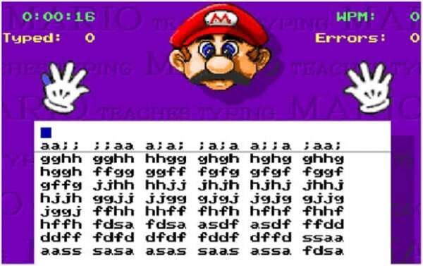 cài đặt game Mario Teaches Typing