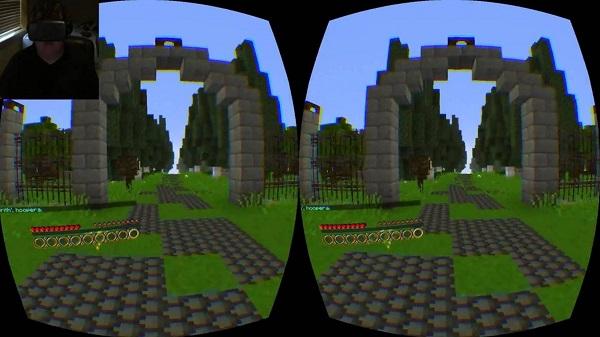 Minecraft Gear VR Edition thuc te ao