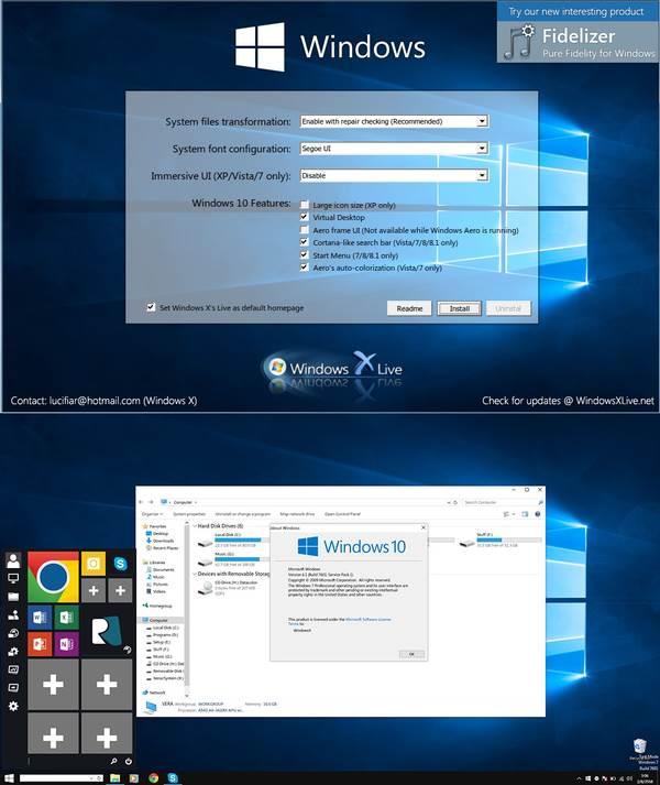 Windows 10 Transformation Pack 9.01